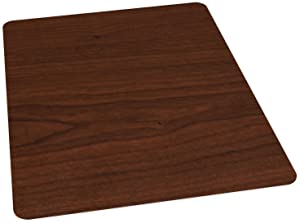ES Robbins Wood Veneer Style Rectangle Chair Mat for Hard Floors, 36 by 48-Inch, Mahogany