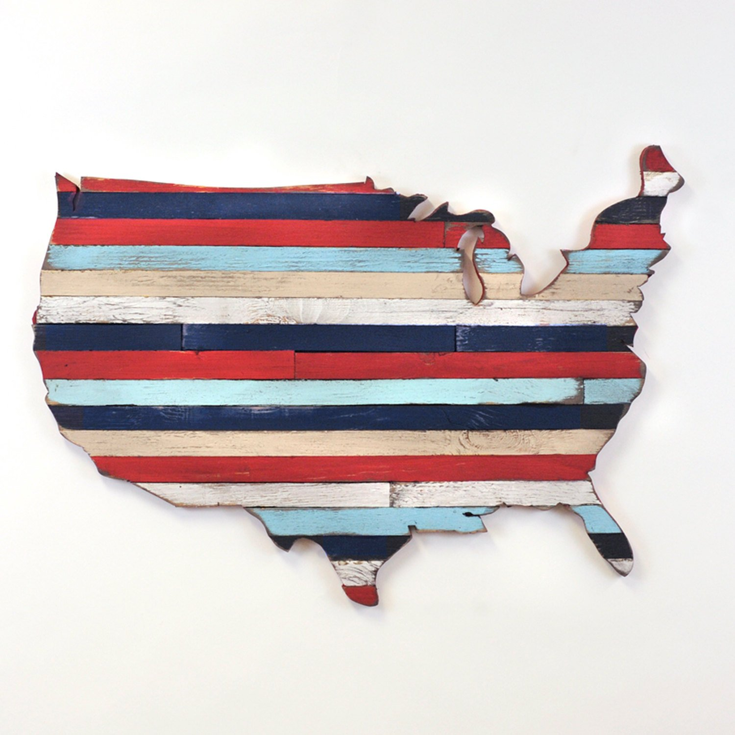 Amazoncom USA Pallet Map Wooden America Pallet Wall Art United - How to do us map on pallet