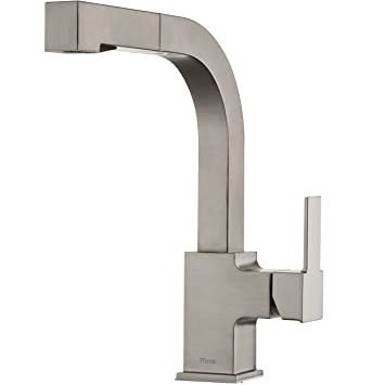 Pfister LG534-LPMS Arkitek Kitchen Faucet with Pull-Out Sprayhead, Stainless Steel