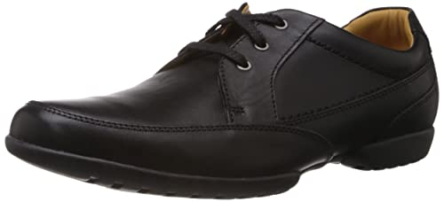 Clarks Recline Out Lace-Ups Mens Leather Shoes - Black (6 UK)