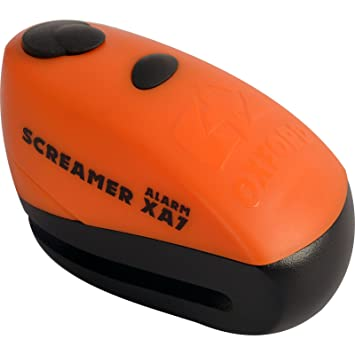 Motorcycle Oxford Screamer XA7 Alarm Disc Lock - Orange Matt ...