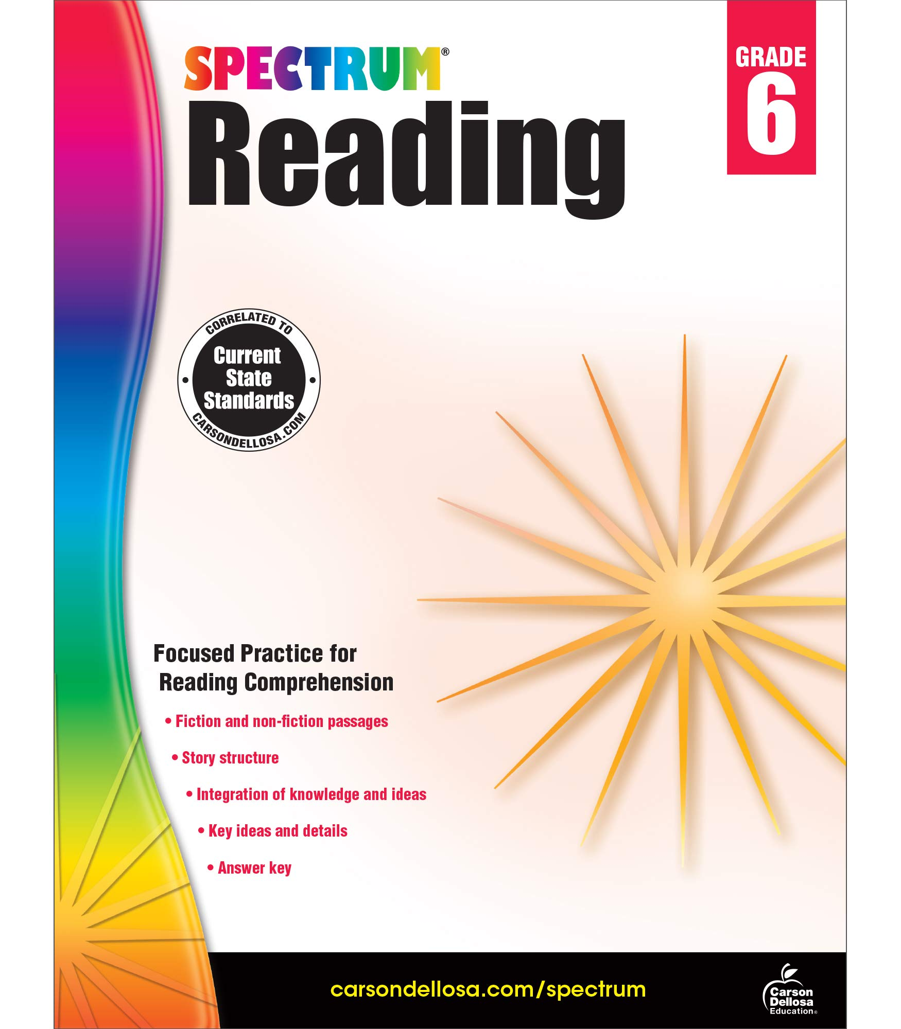 - Spectrum Reading Workbook, Grade 6: Spectrum: 9781483812199: Books