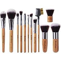 EmaxDesign 12 Pieces Makeup Brush Set Professional Bamboo Handle Premium Synthetic...
