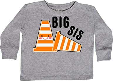 inktastic Big Sis with Construction Cones Toddler T-Shirt