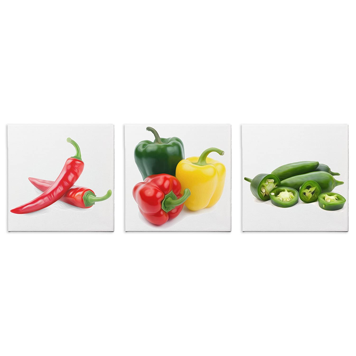 Amazon Kitchen Decor Peppers Gicle Print On Canvas
