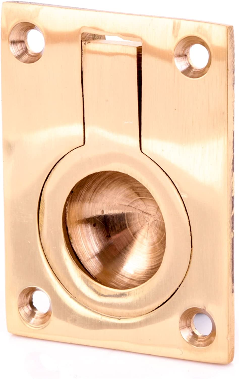 70mm Quality Solid Brass Recessed Flush Drop Handle