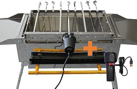 Spießantrieb für 16 Spieß Abstand 4 cm Grill Mangal ohne Zubehör Spießdreher