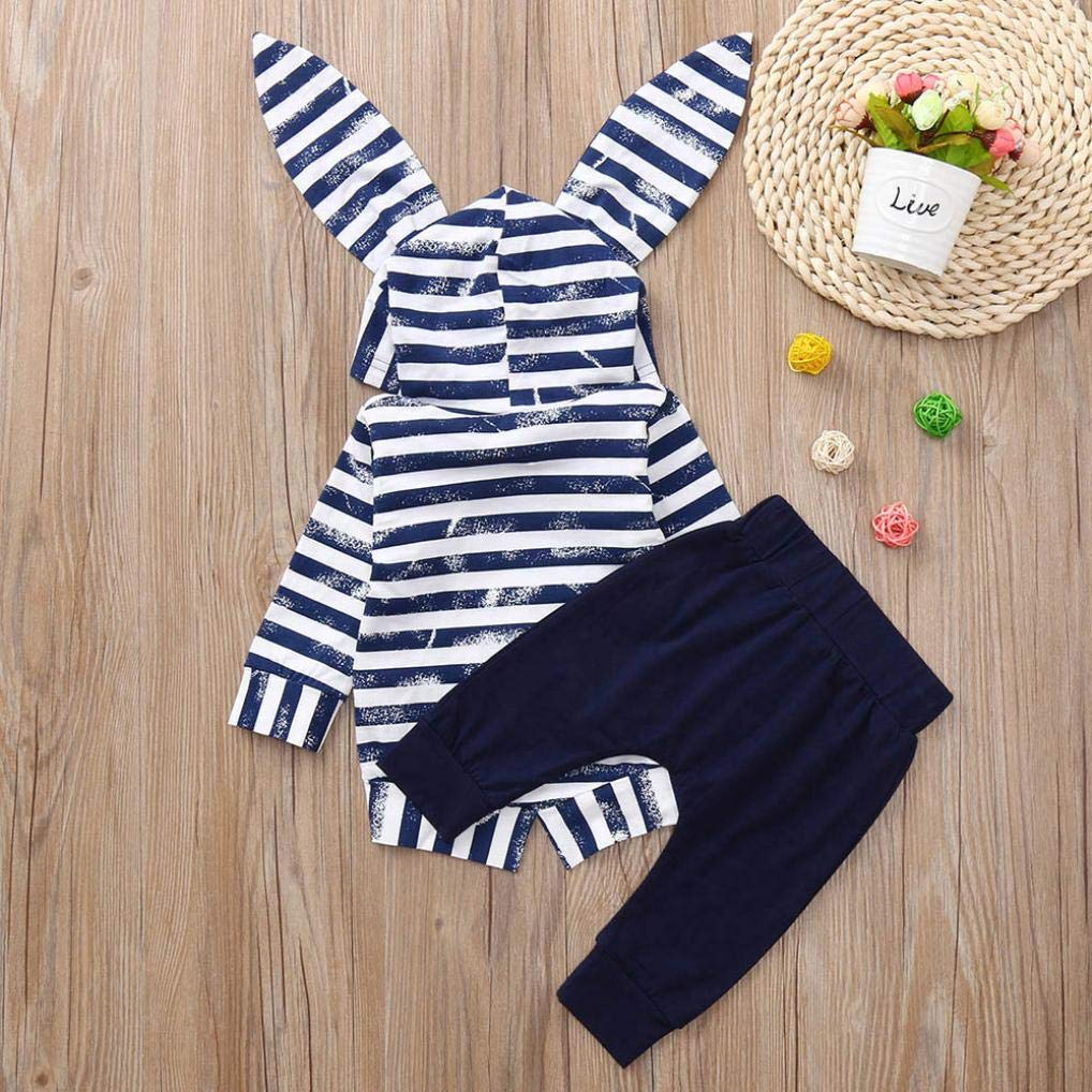 Infant Baby Boys Girls Long Sleeve Animal Print Tops Pants Outfits Clothes Palarn Baby Clothes