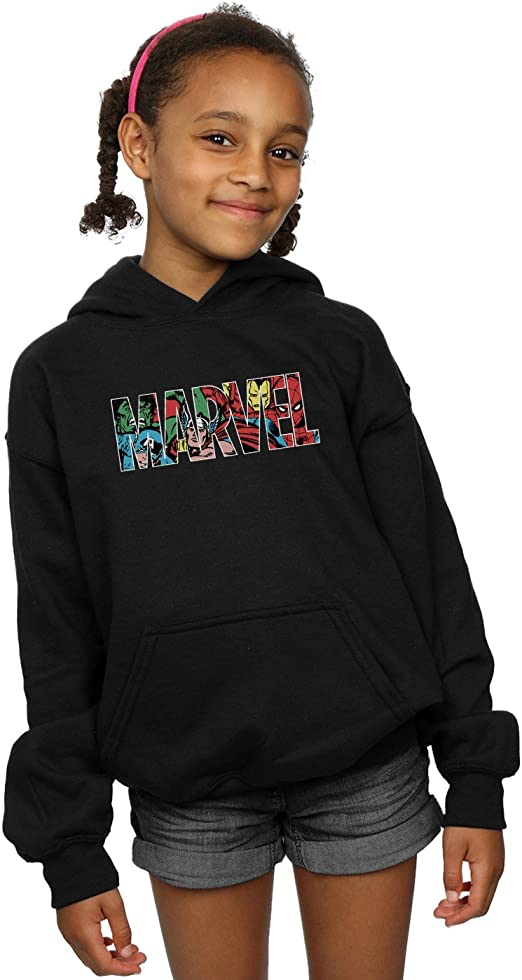 Marvel Comics Girls Logo Character Infill Hoodie