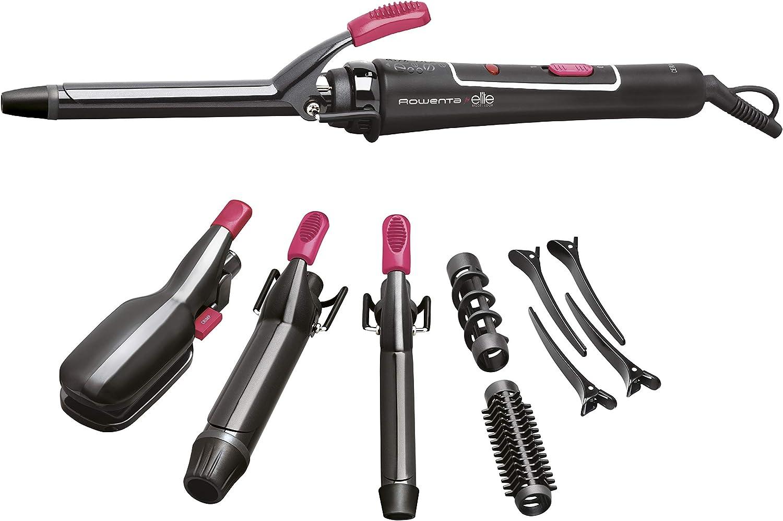 Rowenta Multistyler CF4132 - Rizador cabello 14 en 1, tenacilla rizadora de 16 mm y de 32 mm, plancha para alisar y ondular, espiral desmontable, cepillo desmontable, 4 pinzas, 2 horquillas y neceser