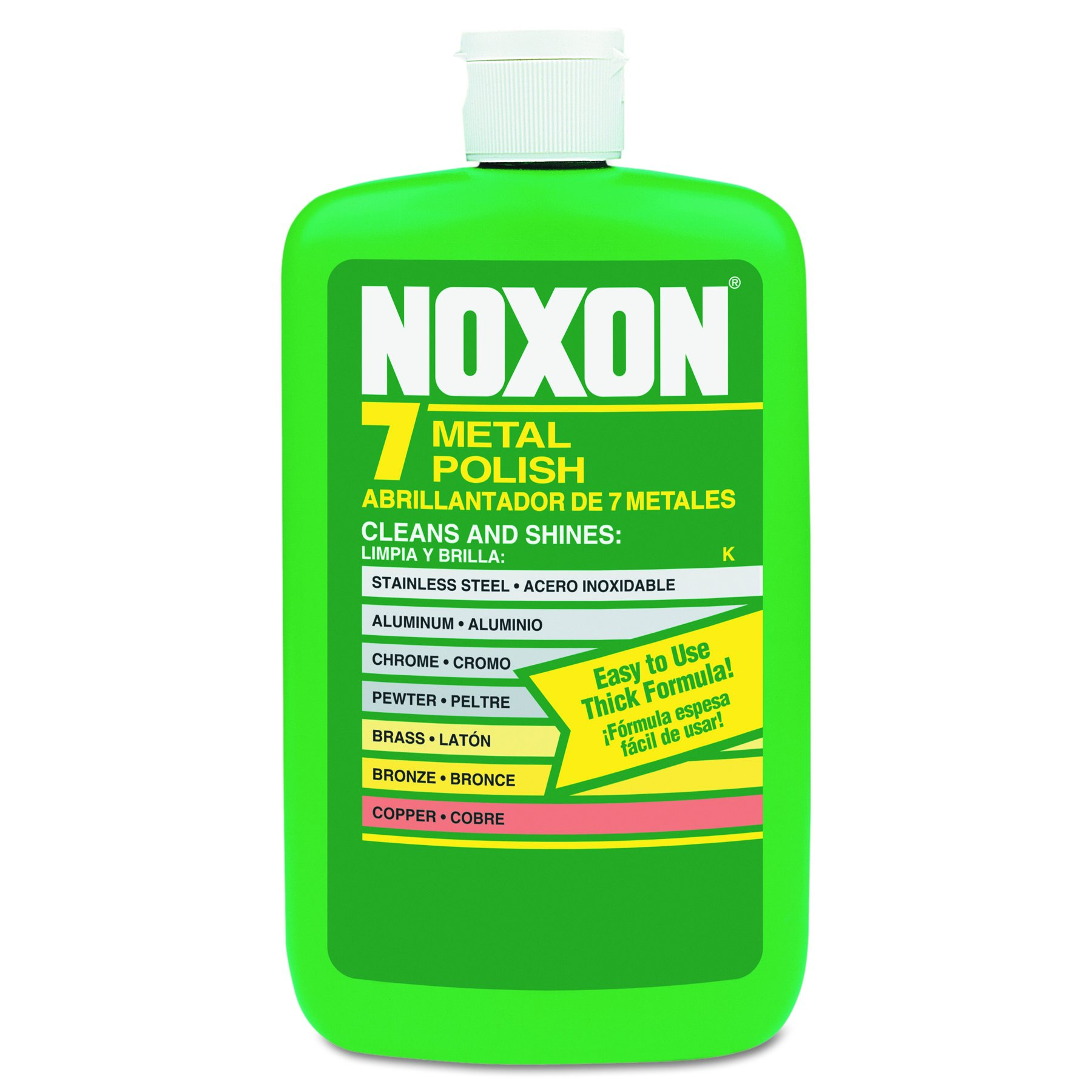 Noxon 7 Liquid Metal Polish, 144 fl oz (12 bottles x 12 oz) for Brass, Copper, Stainless, Chrome, Aluminum, Pewter & Bronze