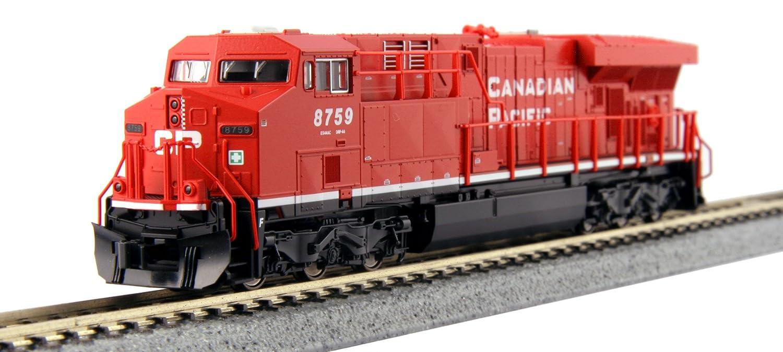Kato USA Model Train Products GE ES44ACGevo Canadian Pacific #8759 Kato Trains 176-8921