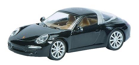 Schuco 452617100 - Porsche 911 Targa 4S 1:87, metálico Negro