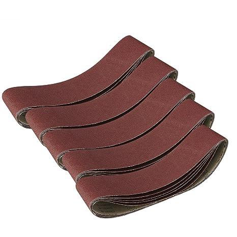 Sanding Belts MASO 10mm x 330mm 120 Grits Power Tool Sander Abrasive Sanding Belts Metal Grinding Sanding Belts for Power Tool Sander Pack of 10pcs