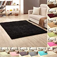 Solid Color Rectangle Thicken Carpet Rug Floor Mat Living Room Bedroom Decor
