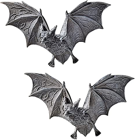 Amazon.com: Design Toscano Vampire Castle Barbarosa Wall Sculptures-Bat Figure, Set of 2, 2 Count: Home & Kitchen