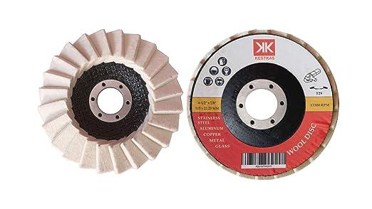 2 Discos para Pulir KESTKAS 115mm Metal,Acero INOXidable,Aluminio,Cromado,Cobre, Cristal para Amoladoras Angulares
