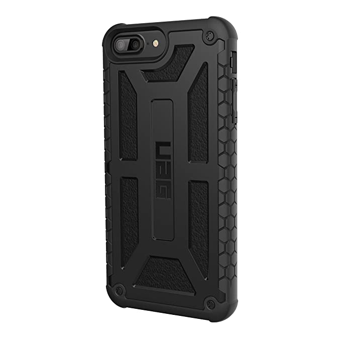 new concept 954fd dbe7f URBAN ARMOR GEAR UAG iPhone 8 Plus/iPhone 7 Plus/iPhone 6s Plus [5.5-inch  Screen] Monarch Feather-Light Rugged [Black] Military Drop Tested iPhone ...