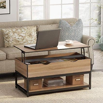 YAOHM Table Basse relevable Multifonction Moderne avec ...