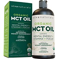 Organic MCT Oil for Morning Coffee - Best MCT Oil Keto Supplement for Sustained...