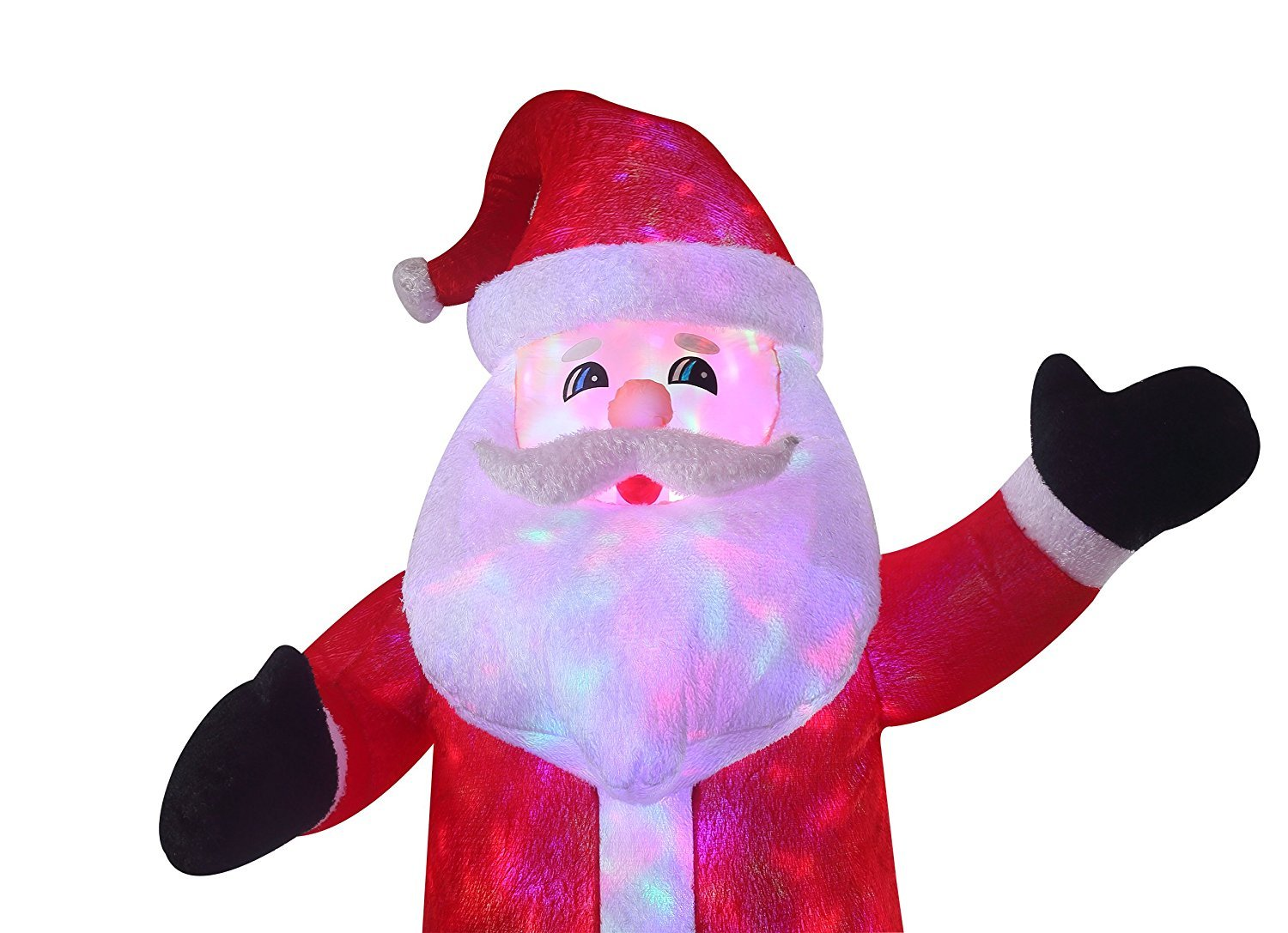 New 8 FT Inflatable Plush Santa Clause With 2pcs Disco Lights Christmas X'mas Decoration by Beyond Shop USA (Image #7)