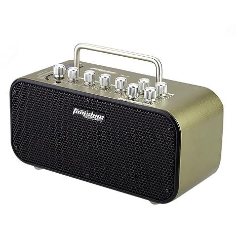 Andoer® Aroma TM-10 10W Amp Amplificador Altoparlante Altavoz para Guitarra Eléctrica Built-