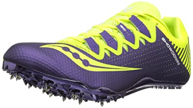 3df8de6da874 Saucony Women s Showdown 4 Track Shoe Citron Purple 6.5 ...