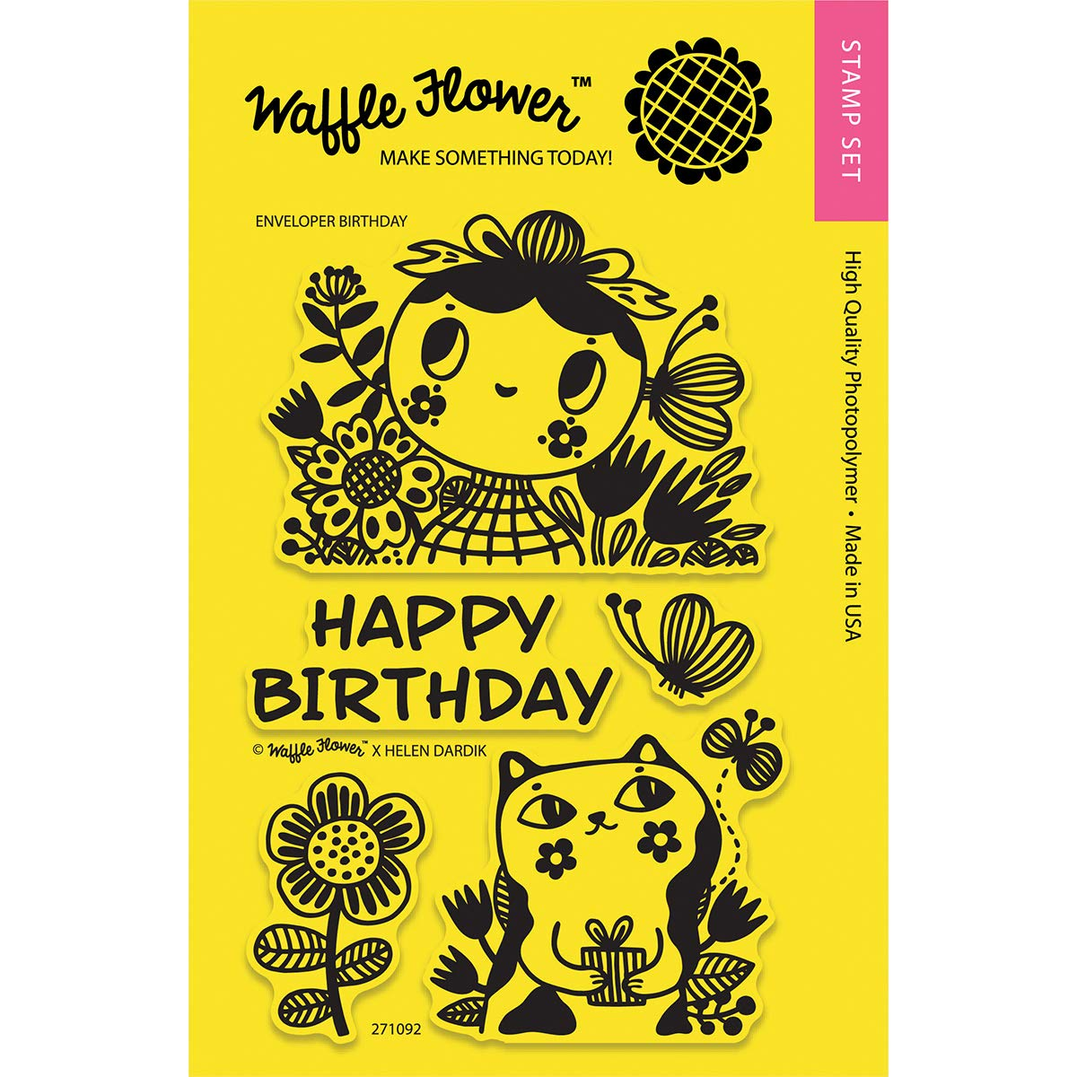 Waffle Flower CraftsEnveloper Birthday Clear Stamps 4 x 6