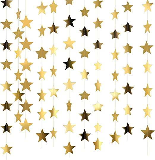 Hanging Paper Garland Star Wedding Christmas Festival Party Ceiling Banner Decor
