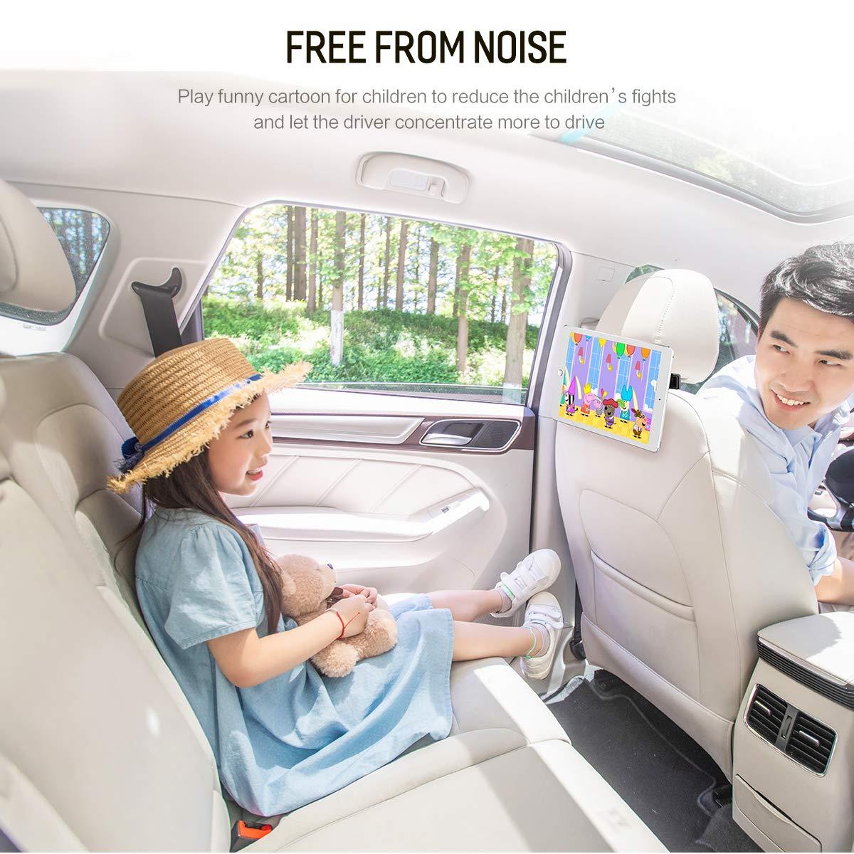 Purse hook for car headrest,Car Headrest Hook,Headrest Hooks for Car,Back Seat Car Hooks for Purse or Grocery Bags,Tablet Holder Headrest Hanger,Back Seat Car Cell Phone Holder Organizer Blue