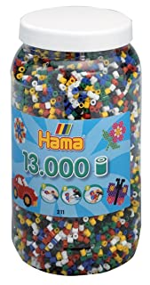 Hama–Midi Vaso 13000Perline Base Mix 6Coul, 211–66