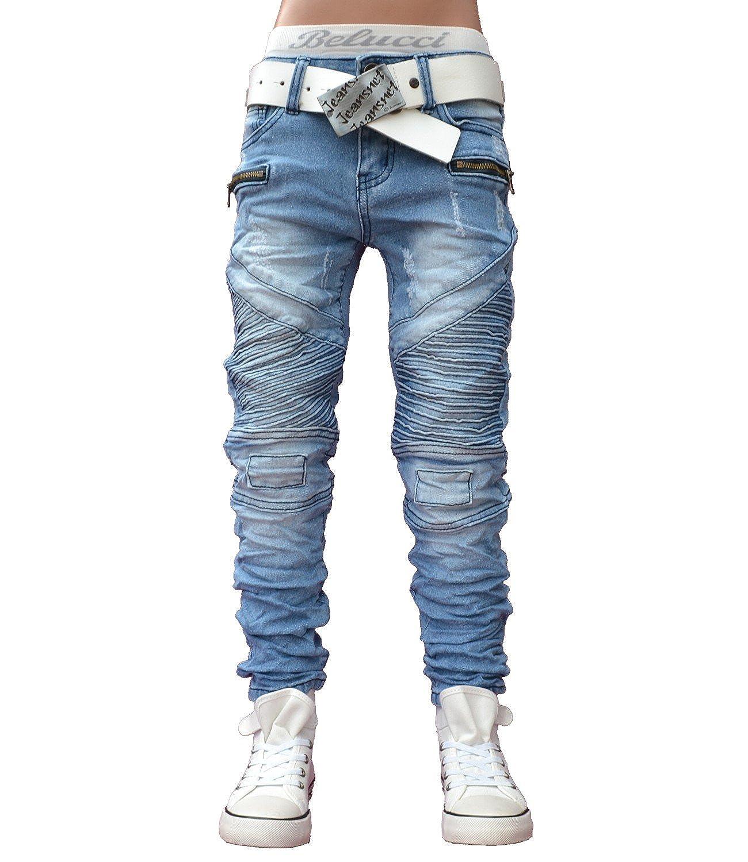 A1801 Squared & Cubed Bikerjeans Hose Junge Kinder Blau 122-170 A1801_blau