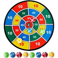 PINCHUANGHUI - Tabla de dardos de seguridad para niños de 14,5 pulgadas con 8 bolas adhesivas.
