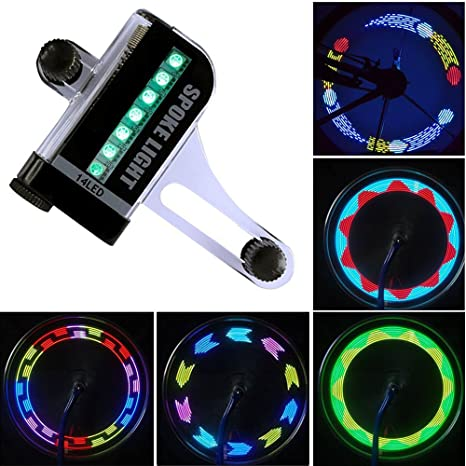 Bicicleta de Rueda LED Impermeable 14 Coloridas LED Rayos Luz de Bicicleta Nocturna Ultra Brillante Luces