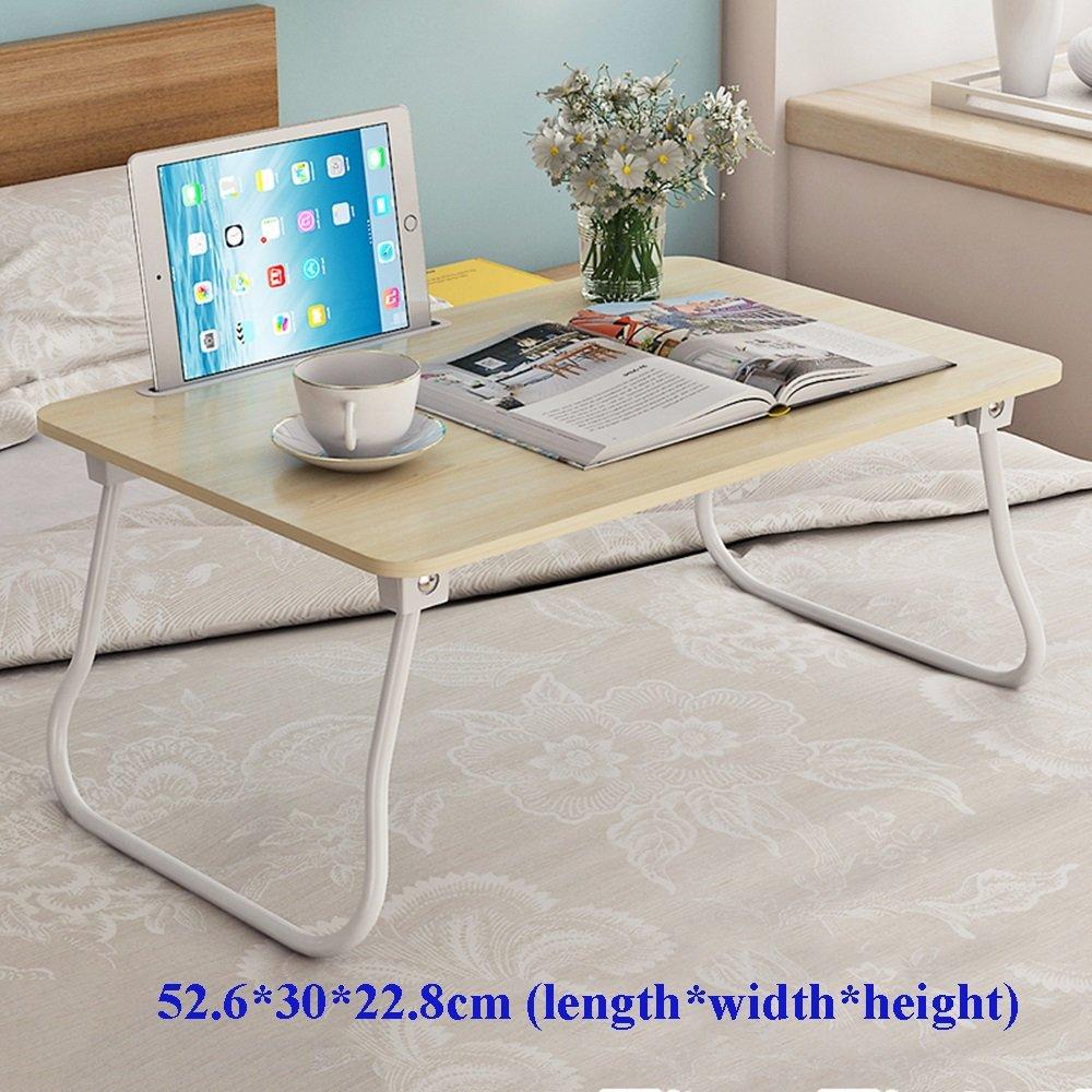 XIA 折り畳みテーブル シンプルなラップトップテーブルレイジーテーブルピンクブルーホワイトメープルカラーウォールナット52.6 * 30 * 22.8cm 60 * 40 * 28cm 70 * 40 * 24.5cm学生用テーブルドミトリー小型テーブル折りたたみ式ベッドの使用デスクの研究用テーブル ( サイズ さいず : 3 ) B07BV5TKMK 3 3