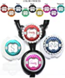 Personalized Quatrefoil and Polka Dots Standard or Yoke Stethoscope Id Tag