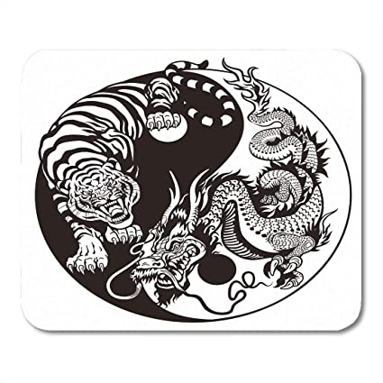 Amazon Com Vankine Mouse Pads Chinese Dragon And Tiger Yin Yang