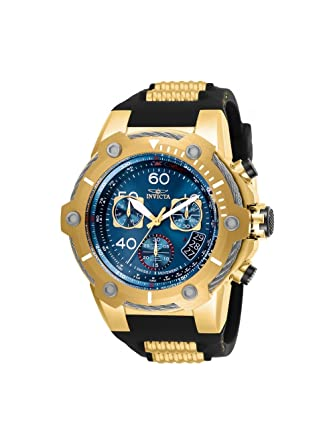 Invicta Mens 25873 Bolt Quartz Chronograph Blue Dial Watch