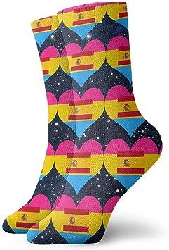 Harry wang Calcetines de la bandera de España del corazón de ...