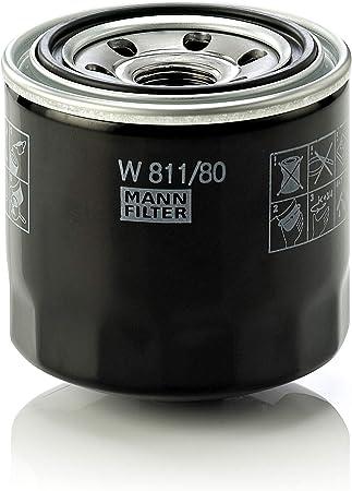 Original Mann Filter Ölfilter W 811 80 Für Pkw Und Nutzfahrzeuge Auto