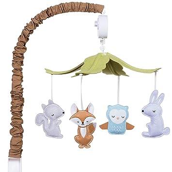 Amazon Com Woodland Baby Crib Musical Mobile Forest Animal Theme Baby