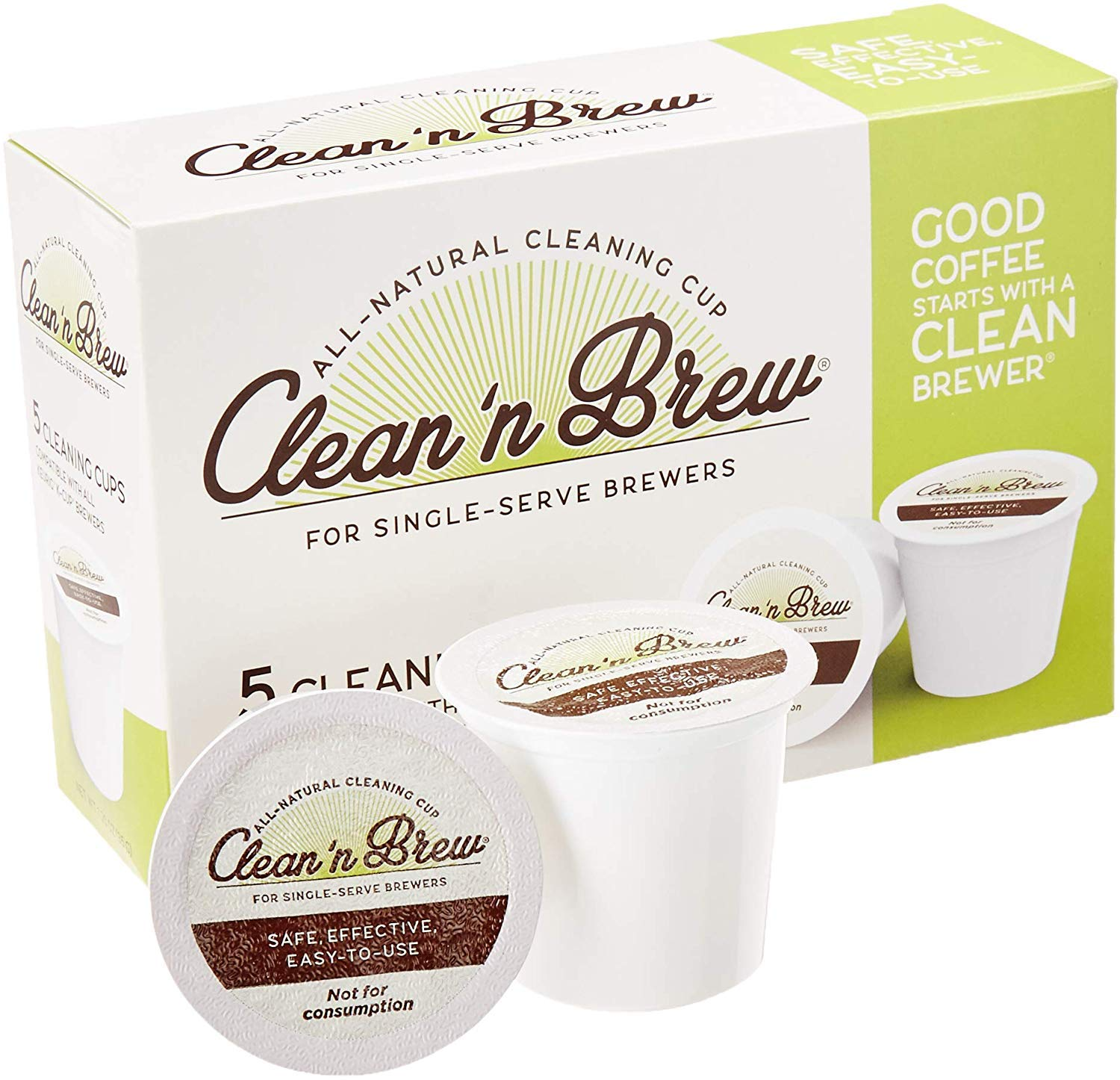 Clean 'N Brew nur All-Natural Cleaning Cups für Keurig K-Cup Machines - Compatible mit Keurig 2.0, Removes Stains, Non-Toxic, nicht Harsh Chemicals