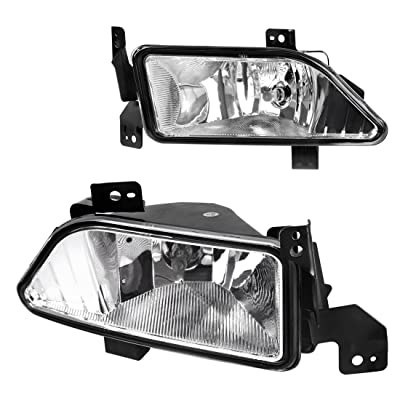 AUTOSAVER88 Fog Lights Compatible with 2006 2007 2008 Honda Pilot (Clear Lens w/Bulbs): Automotive