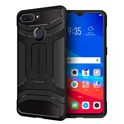 huge selection of 9cc2b 6e7a8 KAPAVER® Oppo RealMe 2 Pro Back Cover Case Drop Tested Shock Proof Carbon  Fiber Armor Black (Only for Real Me 2 Pro) (Carbon Black)