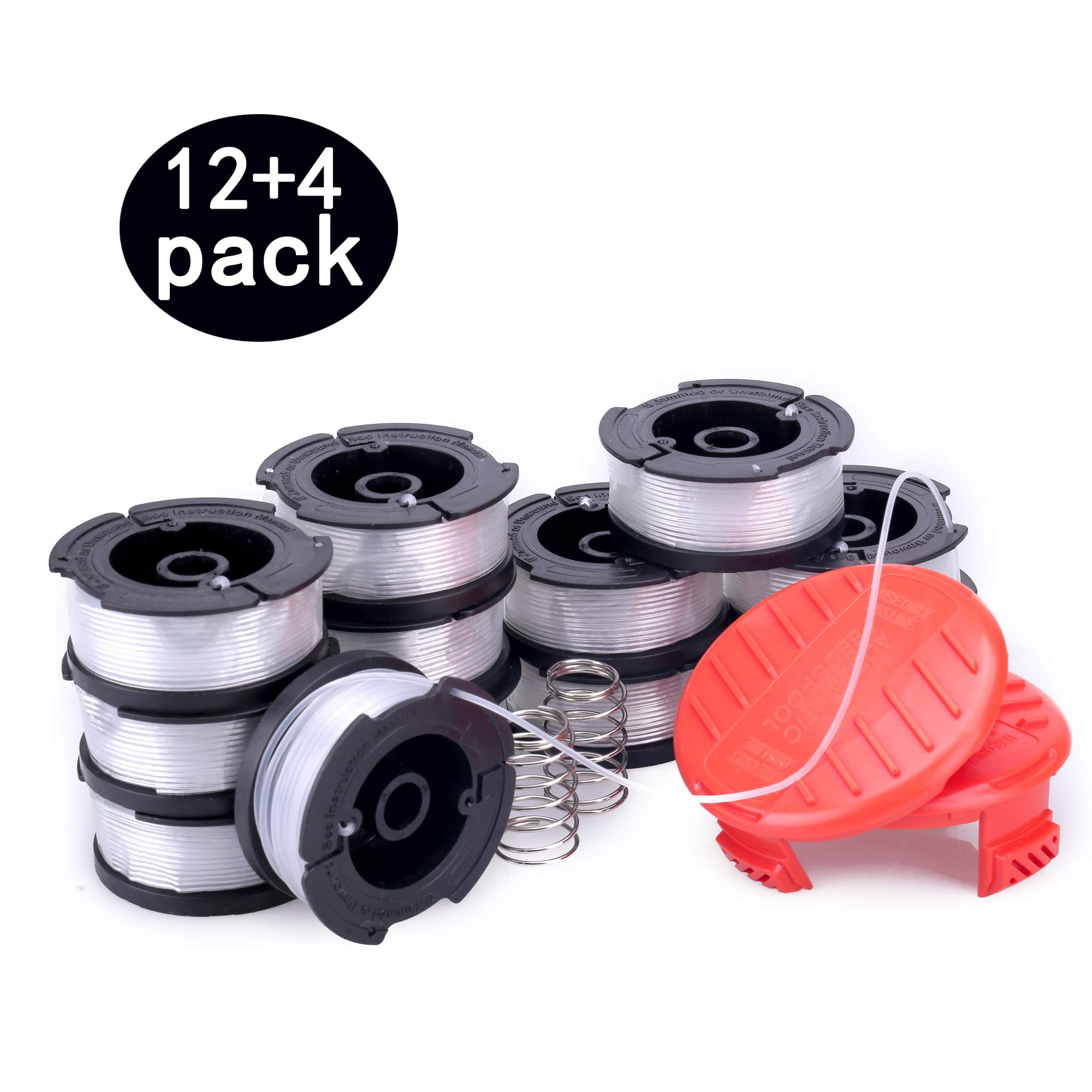 PUTING 12 PCS Line String Trimmer Spool Replacement 30ft 0.065'' Auto Feed for Black & Decker by PUTING