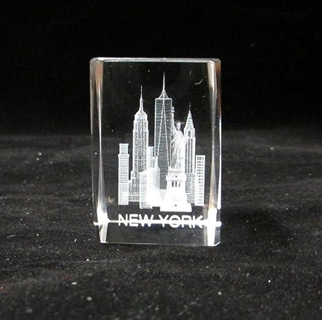 Amazon.com: Souvenir de Nueva York Nyc 3d grabado con láser ...
