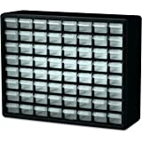 Akro-Mils 10164 64 Drawer Plastic Parts Storage Hardware and Craft Cabinet, 20-Inch by 16-Inch by 6-1/2-Inch, Black (1 PACK)