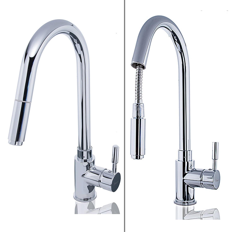 W83 Low Pressure Kitchen Sink Mixer Tap With Shower Hose