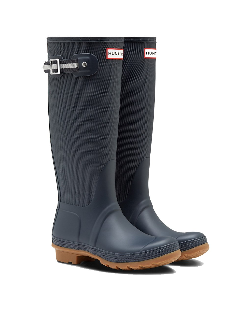 Hunter Women's Original Sissinghurst Tall Rain Boots (7 M US, Navy/Black) by Hunter
