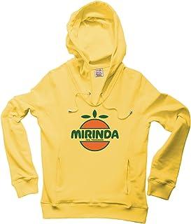 Logoshirt Sweatshirt con Collo v e con Cappuccio Mirinda - Felpa con Collo v e con Cappuccio Cult - Pepsi - Giallo - Design Originale Concesso su Licenza